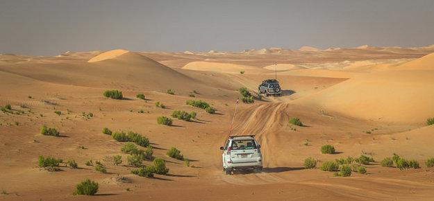 Púštne safari, Abu Dhabi.
