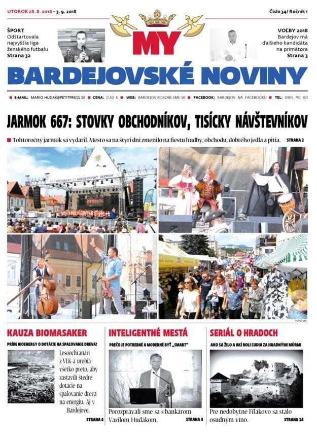 Jarmočná titulka nového vydania nášho bardejovského týždenníka č. 34.