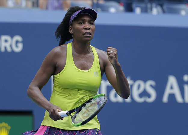 Venus Williamsová sa raduje z víťazstva.