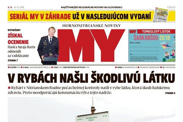 V stánkoch je nové číslo MY Hornonitrianskych novín.