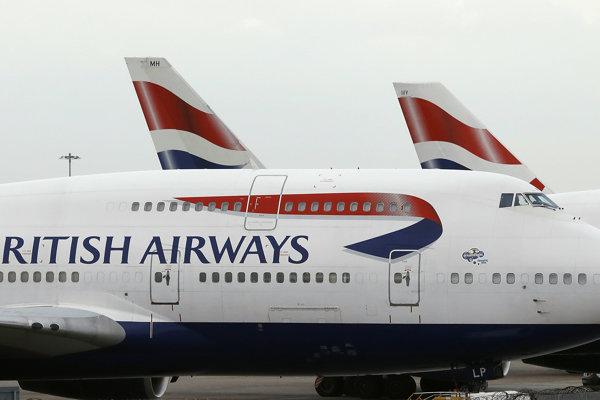 Lietadlá leteckej spoločnosti British Airways.