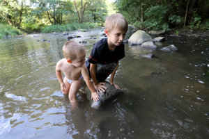 Momentka z rieky Slatina vo Zvolene zo 7. septembra.