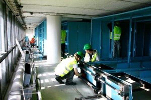 Rekonštrukcia depozitov v sídelnej budove SNK.
