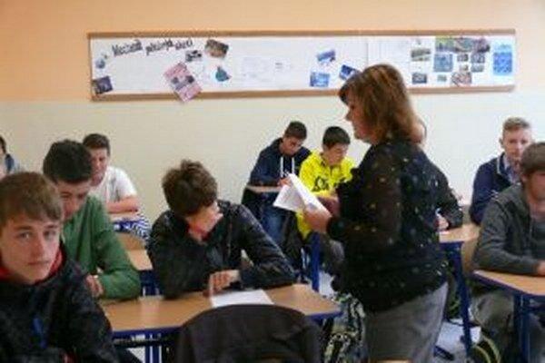 Prijímacie skúšky. V Spojenej škole v Martine žiakov preverovali zo slovenčiny a matematiky.