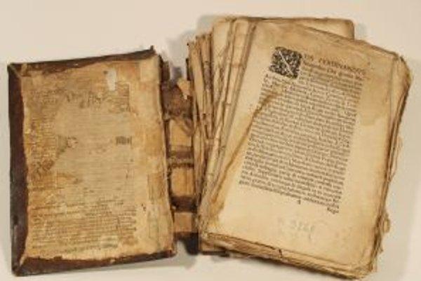 V SNK dokážu zachrániť aj takto zničenú knihu.