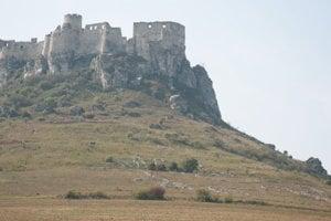 Spišský hrad s geoglyfom