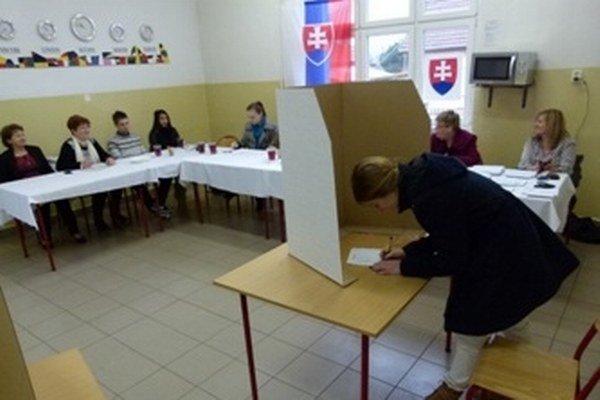 Voľby v treťom sučianskom volebnom okrsku.