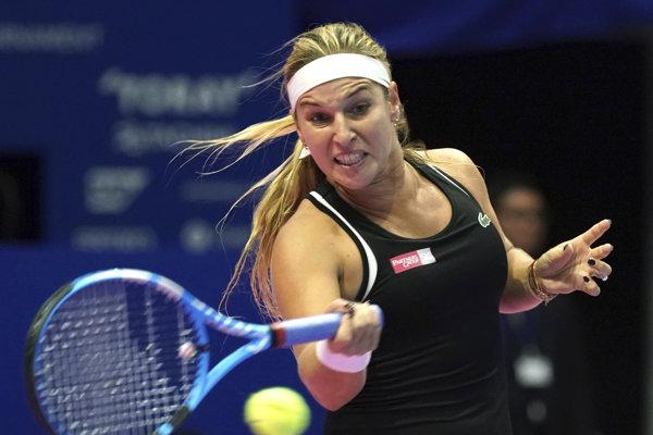 Dominika Cibulková na turnaji v Tokiu.