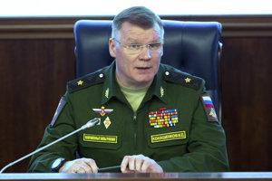 Oficiálny predstaviteľ ruského rezortu obrany Igor Konašenkov.