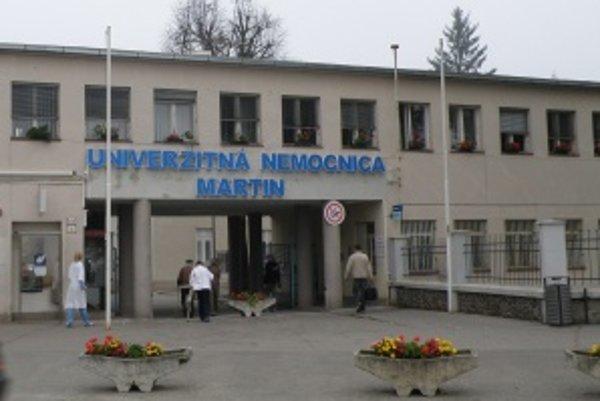 Univerzitná nemocnica v Martine. Aj tu sa lekári pripojili k hromadnému dávaniu výpovedí.