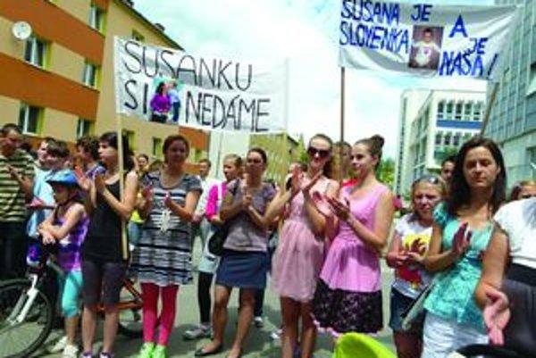 Pred Okresným súdom v Martine sa v tomto roku aj protestovalo.