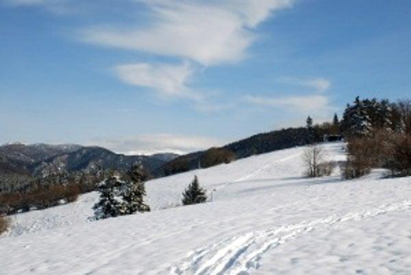 Vhodné miesto na zimné športy. Na svahu v minulom týždni už bolo 35 centimetrov snehu. Podmienky sú tu priaznivé aj pre bežkárov.