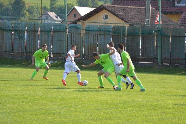 Prečín (v zelenom) sa výhry nedočkal.
