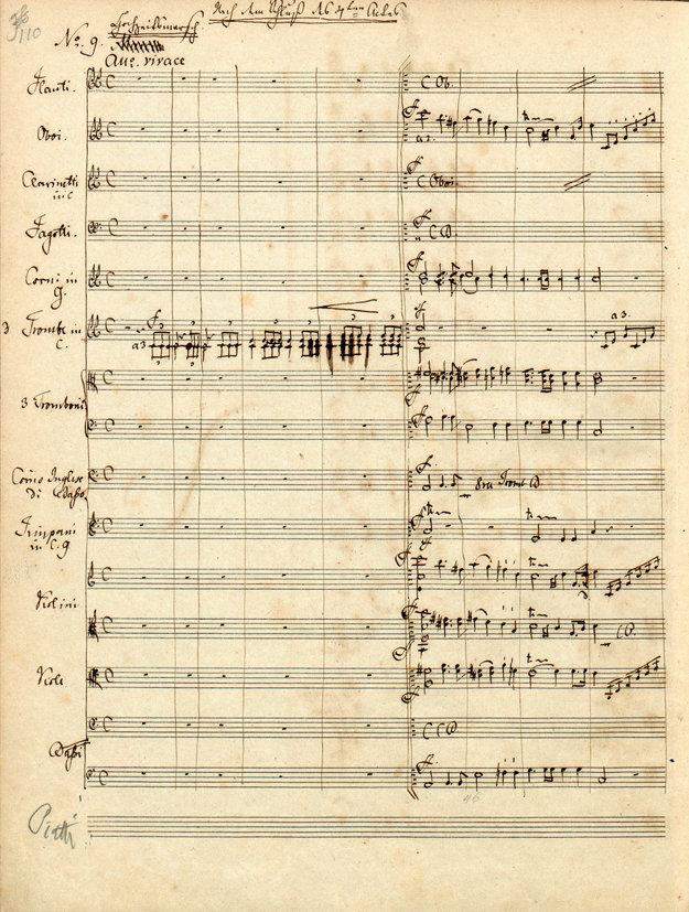 Rukopis Svadobného tanca zo Sna noci svätojánskej, 1843.
