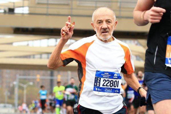 Ján Hazucha počas maratónu v New Yorku v roku 2017 - ilustračné
