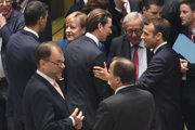 Lídri členských štátov Európskej únie na summite v Belgicku.