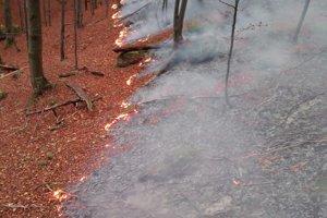Požiar v Gaderskej doline.