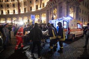 Nehoda sa stala na stanici metra Repubblica v Ríme.