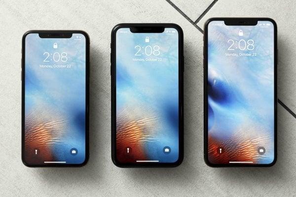Tri najnovšie modely iPhonov. Zľava: iPhone XS, XR a XS Max.