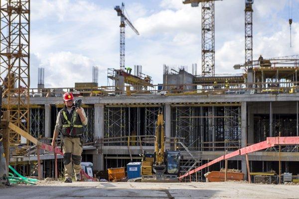 Výrazne rástla zamestnanosť v stavebníctve, prekročila hranicu sedem percent.