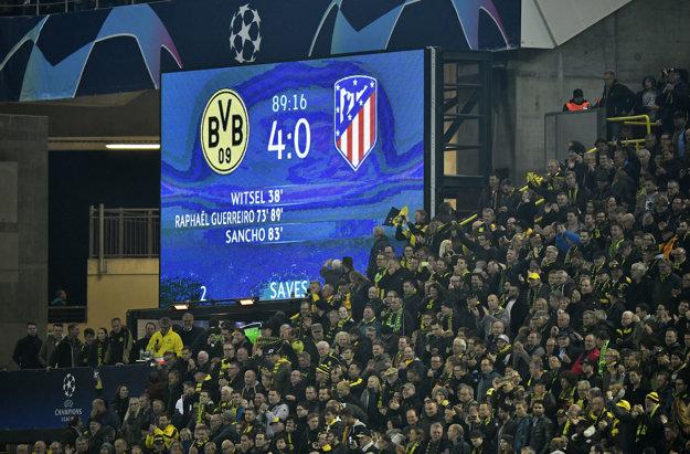 Medzi prekvapenia večera patrila vysoká výhra Dortmundu nad Atléticom Madrid.