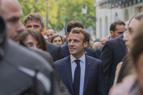 Emmanuel Macron na Slovensku.