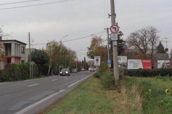 Vstup do mesta Šaľa od Trnovca nad Váhom.