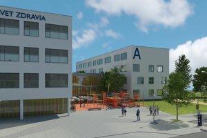 Takto by mal vyzerať nový pavilón michalovskej nemocnice.