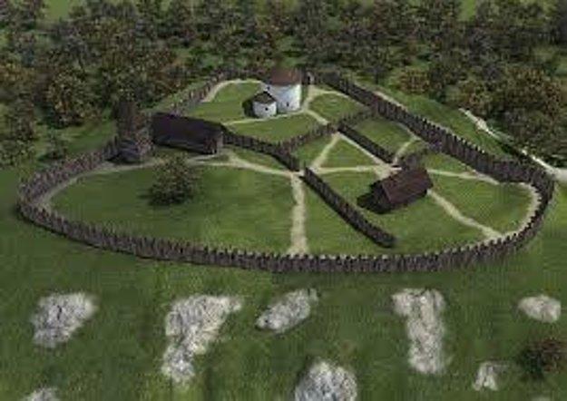 Takto nejako vyzeral Kostolec v časoch Veľkej Moravy.