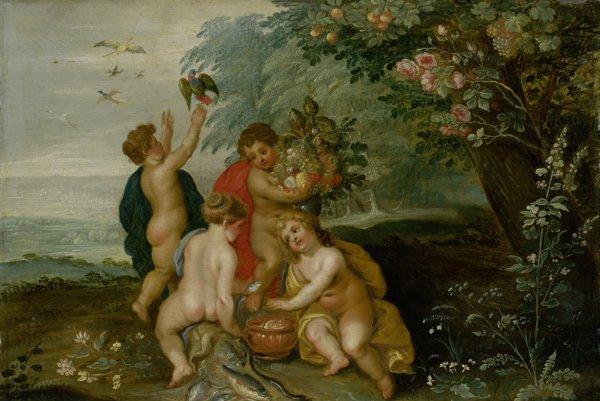 Hendrik van Balen I. - Jan Brueghel starší: Alegória štyroch elementov. 1608 – 1616