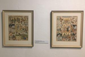 November (vľavo), December (vpravo) cyklus mesiacov, 1941, Josef Lada