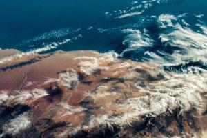 Záber krajiny na západnom pobreží južnej Afriky.