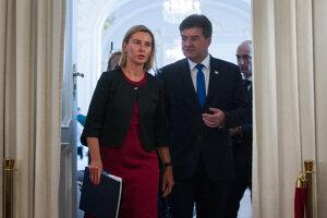 3. september 2016. Miroslav Lajčák a vysoká reprezentantka Európskej Únie pre zahraničné vzťahy a bezpečnostnú politiku Federica Mogherini.
