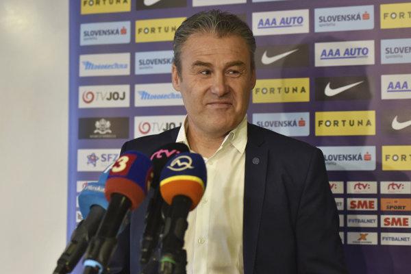 Tréner futbalovej reprezentácie Slovenska Pavel Hapal.