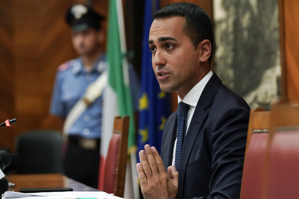 Taliansky vicepremiér Luigi Di Maio.