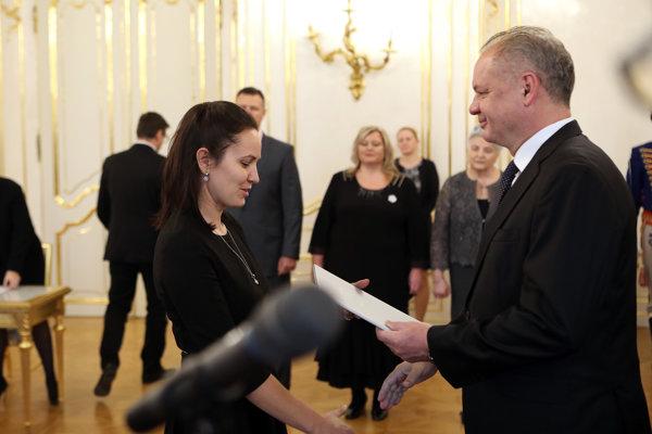 Na slávnostnom akte vPrezidentskom paláci.