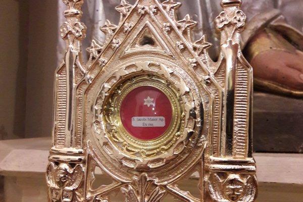Vzácna relikvia je uložená v kostole.