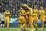 Gólová radosť hráčov Wolverhamptonu.