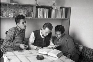 Študentská izba v roku 1955.
