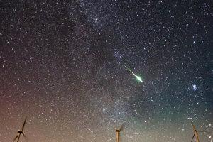 Jeden Perzeid z meteorického roja v roku 2016, pozorovaný v Grécku.