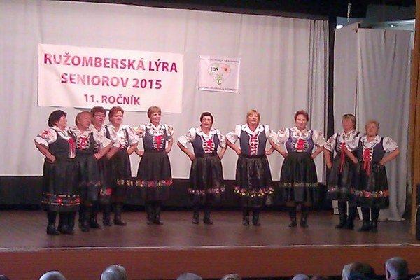 Každý z účastníkov Ružomberskej lýry seniorov predviedol krásne vystúpenie.