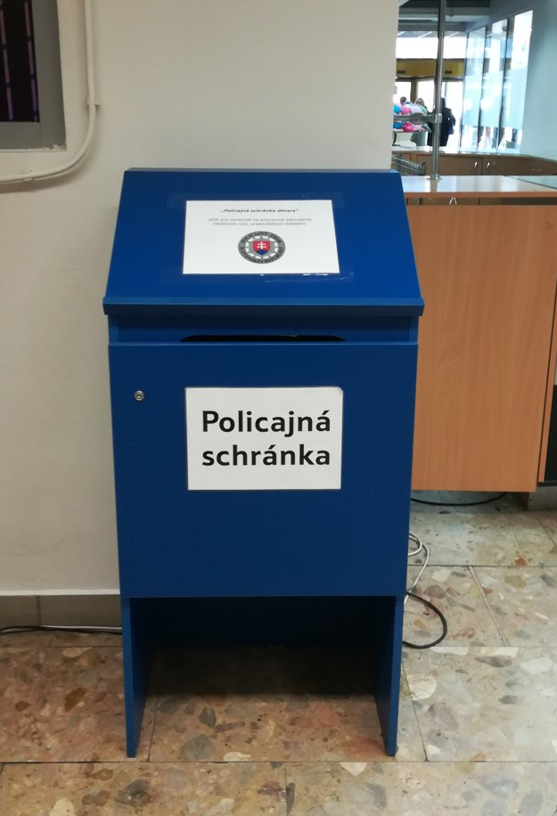Policajná schránka dôvery v OD Dargov.