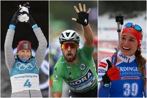 Biatlonistka Anastasia Kuzminová priniesla tri medaily, Peter Sagan vyhral tri etapy na Tour de France a aj zelený dres, Paulína Fialková bola dvakrát druhá v Svetovom pohári.