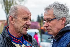 Ľuboš Kašický (vpravo) sIgorom Drotárom.