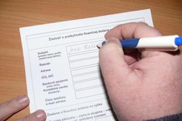 Žiadosť musia napísať do konca marca. S dotáciou však bude problém, lebo by žiadali ako fyzické osoby.
