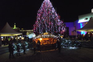 Výpadok malo pred Vianocami aj osvetlenie stromčeka.