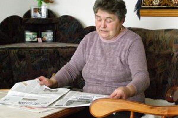 Výherkyňa má vraj na prečítanie novín vždy dostatok času.