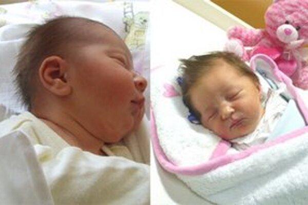 Miška Argalášová (na fotografii vpravo)je prvé dieťa ružomberského okresu a zároveň aj regiónu v roku 2013.Evka Záhorcová (na fotografii vľavo) je prvé dieťa narodené v liptovskomikulášskej pôrodnici tohto roka.