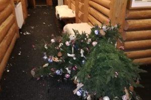 Šebo a jeho kamaráti poškodili vianočný stromček