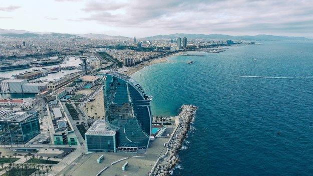 Pohľad na pláž La Barceloneta
